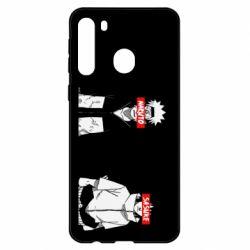 Чехол для Samsung A21 Naruto and Sasuke