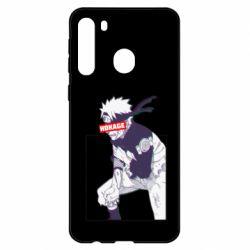 Чехол для Samsung A21 Naruto Hokage glitch