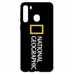 Чехол для Samsung A21 National Geographic logo
