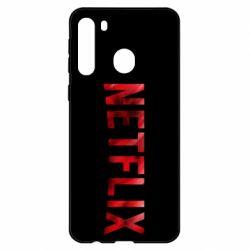 Чехол для Samsung A21 Netflix logo text