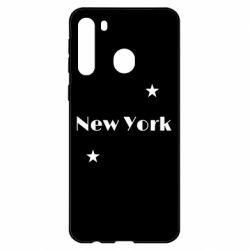 Чехол для Samsung A21 New York and stars