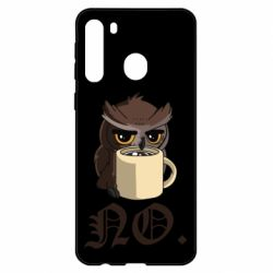 Чехол для Samsung A21 Owl and coffee