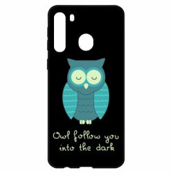 Чехол для Samsung A21 Owl follow you into the dark