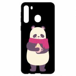 Чехол для Samsung A21 Panda and Cappuccino