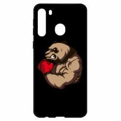 Чехол для Samsung A21 Panda Boxing
