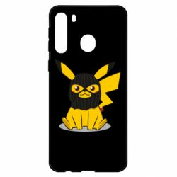 Чехол для Samsung A21 Pikachu in balaclava