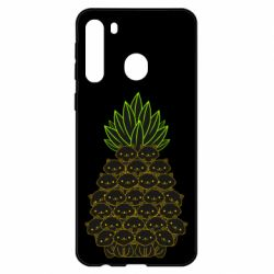 Чехол для Samsung A21 Pineapple cat