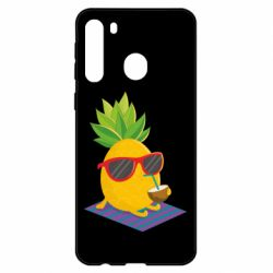 Чехол для Samsung A21 Pineapple with coconut