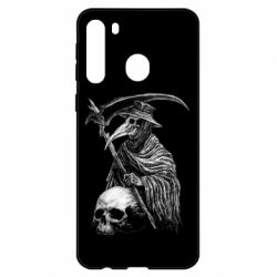 Чехол для Samsung A21 Plague Doctor graphic arts