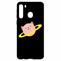 Чехол для Samsung A21 Planet Cat