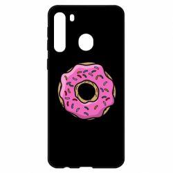Чехол для Samsung A21 Пончик Гомера