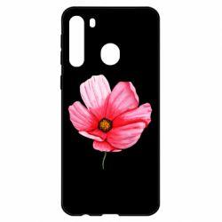 Чехол для Samsung A21 Poppy flower