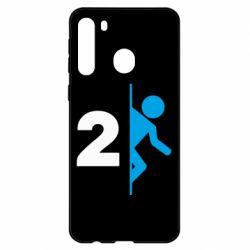 Чехол для Samsung A21 Portal 2 logo
