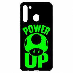 Чехол для Samsung A21 Power Up гриб Марио
