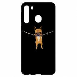 Чехол для Samsung A21 Puppy On The Rope
