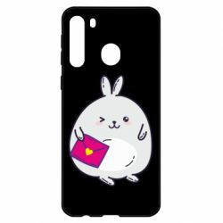 Чехол для Samsung A21 Rabbit with a letter