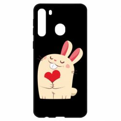 Чехол для Samsung A21 Rabbit with heart