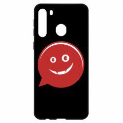 Чехол для Samsung A21 Red smile