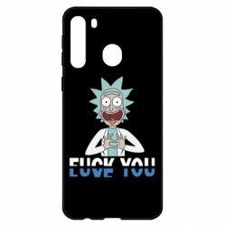 Чехол для Samsung A21 Rick fuck you