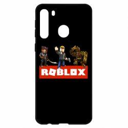 Чехол для Samsung A21 Roblox Heroes