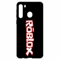 Чехол для Samsung A21 Roblox logo