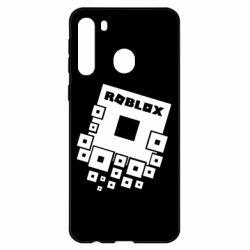 Чехол для Samsung A21 Roblox logos