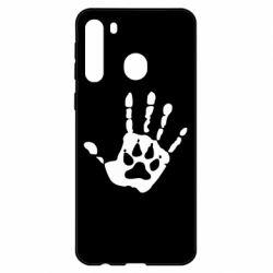 Чехол для Samsung A21 Рука волка