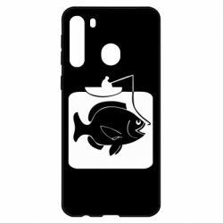 Чехол для Samsung A21 Рыба на крючке