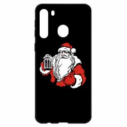 Чехол для Samsung A21 Santa Claus with beer
