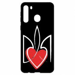 Чехол для Samsung A21 Серце з гербом