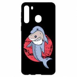 Чехол для Samsung A21 Shark or dolphin