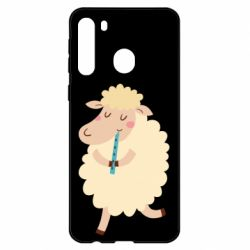 Чехол для Samsung A21 Sheep with flute