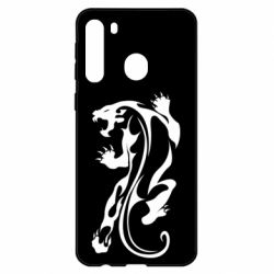 Чехол для Samsung A21 Silhouette of a tiger