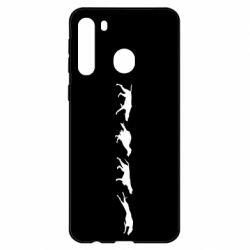 Чехол для Samsung A21 Silhouette of hunting dogs