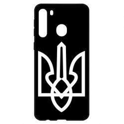 Чехол для Samsung A21 Simple coat of arms with sharp corners