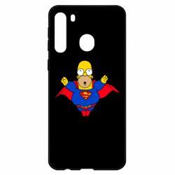Чехол для Samsung A21 Simpson superman