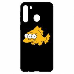 Чехол для Samsung A21 Simpsons three eyed fish