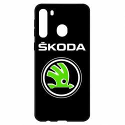 Чехол для Samsung A21 Skoda Bird