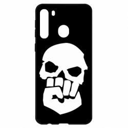 Чехол для Samsung A21 Skull and Fist