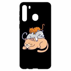 Чехол для Samsung A21 Sleeping cats