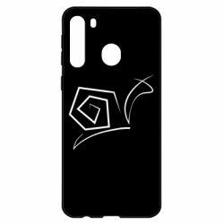 Чехол для Samsung A21 Snail minimalism