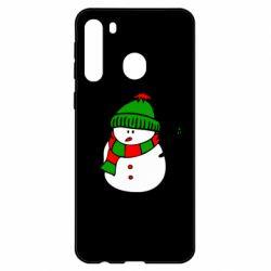 Чехол для Samsung A21 Снеговик