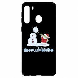 Чехол для Samsung A21 Snowmando