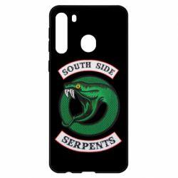 Чехол для Samsung A21 South side serpents stripe