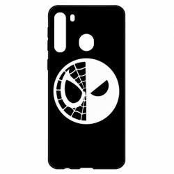 Чехол для Samsung A21 Spider Man and Deadpool