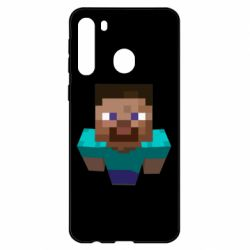 Чехол для Samsung A21 Steve from Minecraft