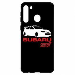 Чехол для Samsung A21 Subaru STI