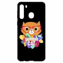 Чехол для Samsung A21 Summer cat