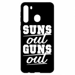 Чехол для Samsung A21 Suns out guns out