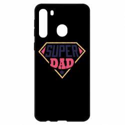 Чехол для Samsung A21 Super dad text